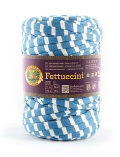 Fettuccini® I want to try this yarn! Now I don't have to make my own t-shirt yarn... I can buy it. What a time saver! Only downside is I can't choose the colors.