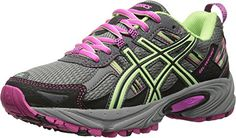 ASICS Womens Gelventure 5 Running Shoe TitaniumPistachioPink Glow 85 M US -- Read more  at the image link. Note: It's an affiliate link to Amazon