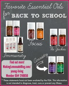 Best Essential Oils for Back to School: so glad I finally found a way to support immunity, improve focus, ease anxiety and WAY more with these amazing Young Living oils! #essentialoils #oilyfamilies