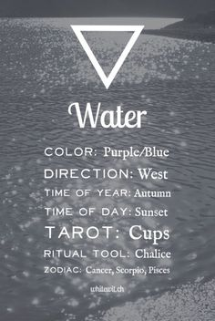 The Aries Witch ♈ elements - water -altar - ritual - spell casting -Wicca - pagan -magick -witchcraft Magia Elemental, Elemental Magic, Water Witch, Sea Witch, Under Your Spell, Book Of Shadows, Reiki, Spelling, Mindfulness