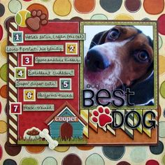 Image detail for -Puppy Days scrapbook layout Cricut