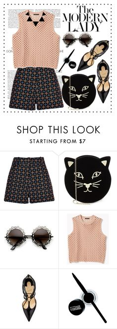 """""""Coming back looking delicious"""" by vladoslav ❤ liked on Polyvore featuring River Island, Charlotte Olympia, Theory, Christian Louboutin, Maybelline, black, beige, summerstyle, pattern and summer2016"""