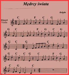 Mędrcy świata. Christmas Piano Music, Christmas Sheets, Ukulele, Violin, Lead Sheet, Kalimba, Sheet Music, Learning, Books
