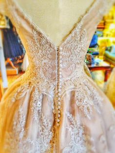 Joanne Fleming Design: Peaches and Cream.....a delicious lace and blush silk tea-length wedding dress