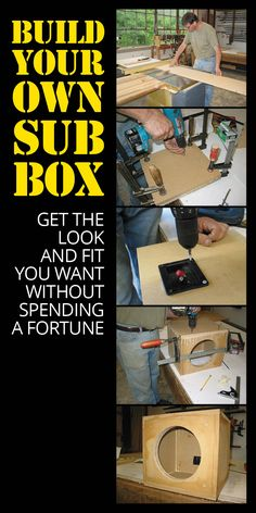 Building your own subwoofer box is a great way to get the look and fit you want, without spending a fortune. All you need is a few basic tools, hardware, and materials. Truck Speaker Box, Speaker Box Diy, Truck Subwoofer Box, Custom Subwoofer Box, Diy Subwoofer, Subwoofer Box Design, Speaker Box Design, Diy Speakers, Custom Car Audio