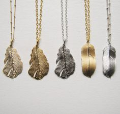 Feather Necklaces.
