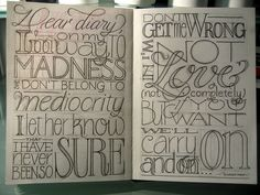 Lucky Day (cont.) sketch by Marina Chaccur, via Flickr Another nice example of lettering possibilities.