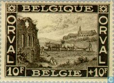 Stamps - Belgium [BEL] - First Orval 1928