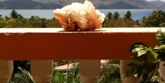 Quartz crystal with a view. British Virgin Islands, Quartz Crystal, Crystals, Crystal, Us Virgin Islands, Crystals Minerals, Quartz