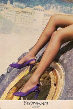 Yves Saint Laurent ad campaign Vogue 1985 Helmut Newton