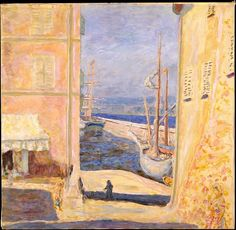 Pierre Bonnard (French, 1867-1947), View of The Old Port, Saint-Tropez, 1911. Oil on canvas, 83.8 x 86.4 cm.