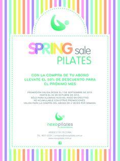 Promo especial para que retomes Pilates o vuelvas con todo!