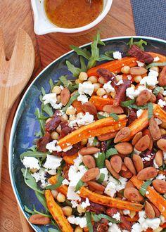 sałatka z cieciorką marchewką pieczoną i serem feta