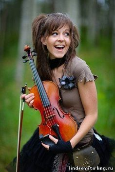 Lindsey Stirling, love listening to her music :) shes so pretty