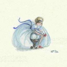 #cenerentola  #fiabe  #illustrazione #acquerello