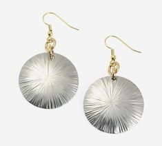 New Stunning Large Aluminum Sand Dollar Disc Earrings https://www.johnsbrana.com/products/large-aluminum-sand-dollar-disc-earrings