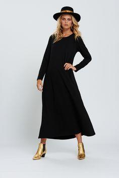 Maxi Dress in Black - Bohemian Traders