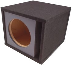 "ASC Single 15"" Round Universal Subwoofer Paintable Baffle Slot Vented Port Sub Box Speaker Enclosure. Dimensions: Width 20-1/2"" x Height 18"" x Depth 19-1/2"". Install Notes: Front baffles are removable and can be painted. Mounting Depth: 10 Inches. Air Space: 2.92 Cubic Feet."