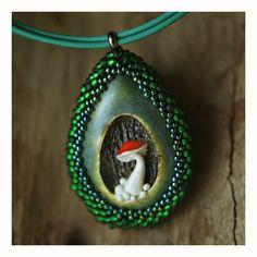 Karolina-G / naszyjnik, ceramika, koraliki / necklace. ceramic, beads /// http://karolina-g.blogspot.com/2014/08/w-kropli-deszczu.html