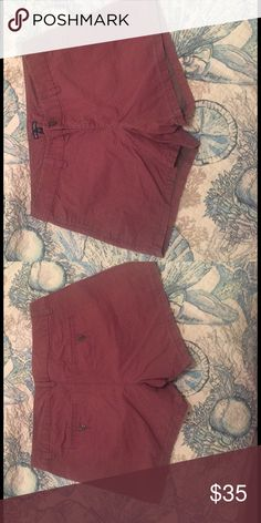 Gap Hadley shorts Brown and pink shorts with a jean feeling, has arrows going down and up GAP Shorts Jean Shorts