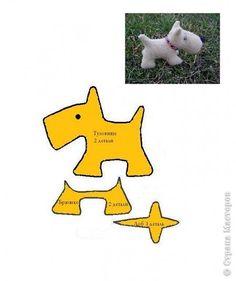 Игрушка Шитьё Выкройки собачек Ткань фото 1