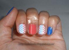 Coral blue #nailart #moyoulondon #Princess08 @moyoulondon  #kiko448 #kiko444 #stampingnailart