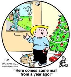 Clean Puns, Family Circus Cartoon, Comics Kingdom, Cheesy Jokes, Going Postal, Family Circle, Buy Prints, Funny Cartoons, Christmas And New Year