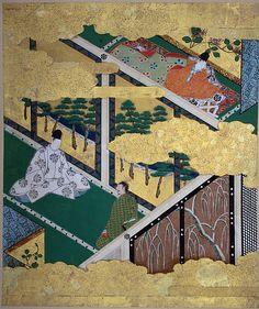 "Tosa Mitsuyoshi | ""Kashiwagi"" chapter from The Tale of Genji (Genji monogatari) | Japan | The Met"