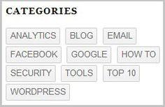 Customized Tag Cloud Widget for WordPress Blogs