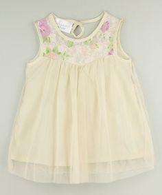 Ivory Lace Flower Dress - Infant, Toddler & Girls