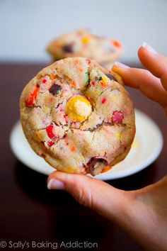 Soft-Baked Peanut Butter M&M Cookies with sprinkles. Seriously a fave.