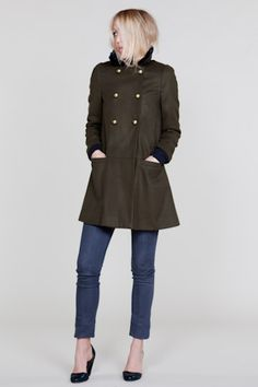 Olive Wool Day Coat from Emerson Made...oh how I wish it was cold enough to wear you right now!