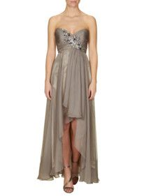 Jakes one shoulder abendkleid mit besatz