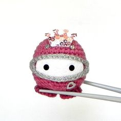 Amigurumi - Ninja Princess MochiQtie - Crochet Amigurumi Mochi size mini stuffed  toy / doll on Etsy, $16.00
