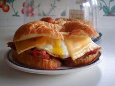 Bacon, Egg & Cheese Breakfast Croissant