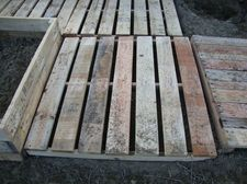Recycle wood pallets into walkways around a raise garden or even patio!!