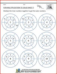 61 best andrew math work images on pinterest learning teaching fun multiplication target board to 10x10 multiplication fun worksheet 3rd grade times tables worksheets ibookread ePUb