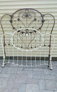 company authentic american antique cast iron bed frames antique victorian metal cast iron brass full size bed headboard footboard vntg