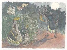 Ernst Kreidolf's illustrations for Der Traumgarten (Switzerland, c. 1912)