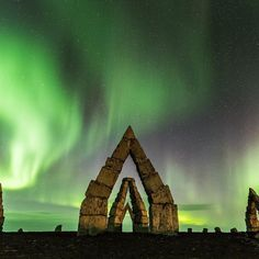 The little known #ArcticHenge in North Iceland. Photo by @NissimHasan_foto.video