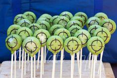 Target cake pops for laser tag birthday