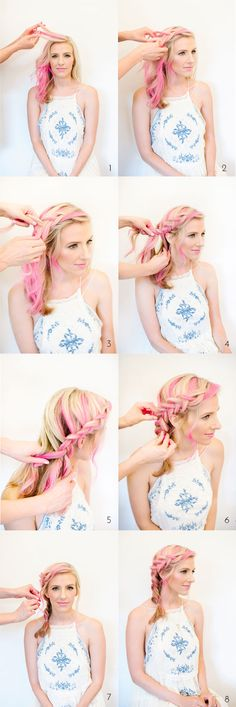 Inside-Out French Braid Hair Tutorial | theglitterguide.com
