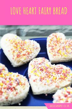 Treat the kids to super cute love heart fairy bread for breakfast | kids breakfast | sweet sandwich recipes