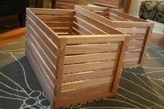 LP Record 24 Sapele Storage Crates by FaithfulGrain on Etsy. , via Etsy.