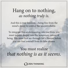 Life Is: All of a Sudden — Zen Thinking Detachment Quotes, Emotional Detachment, Emotional Intelligence, Quotable Quotes, Wisdom Quotes, Quotes To Live By, Life Quotes, The Words, Meaningful Quotes