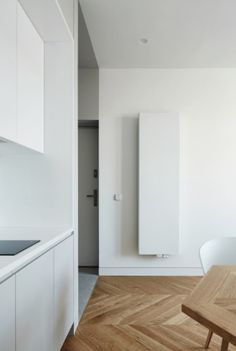 Studio Jansen likes this minimalist apartment in Krakow - they have in every sense made the most of the small space, adding quirky elements that don't dominate to a minimalist backdrop.