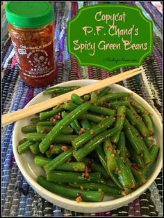 Copycat P. Chang's Spicy Green Beans -- Easy gluten free, garlicky, spicy side dish made with fresh green beans! I do adore the Spicy Green Beans at P. Chang's, but don't adore the price -- try this fresh green bean alternative! Side Dish Recipes, Vegetable Recipes, Asian Recipes, Vegetarian Recipes, Cooking Recipes, Healthy Recipes, Vegetarian Main Dishes, Thai Recipes, Think Food