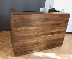 Reception Desk with Solid Walnut Cladding