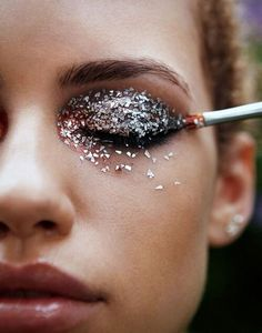 #makeup #glitter #макияж