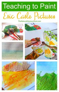 Teaching to Paint Eric Carle Pictures {Part – The Natural Homeschool Aren't Eric Carle pictures just amazing? This post will focus on an artist study and art lesson, so it can be used with children. Eric Carle, Caterpillar Art, Very Hungry Caterpillar, Preschool Art Projects, Art Activities, Sequencing Activities, Preschool Science, Activity Ideas, Preschool Activities